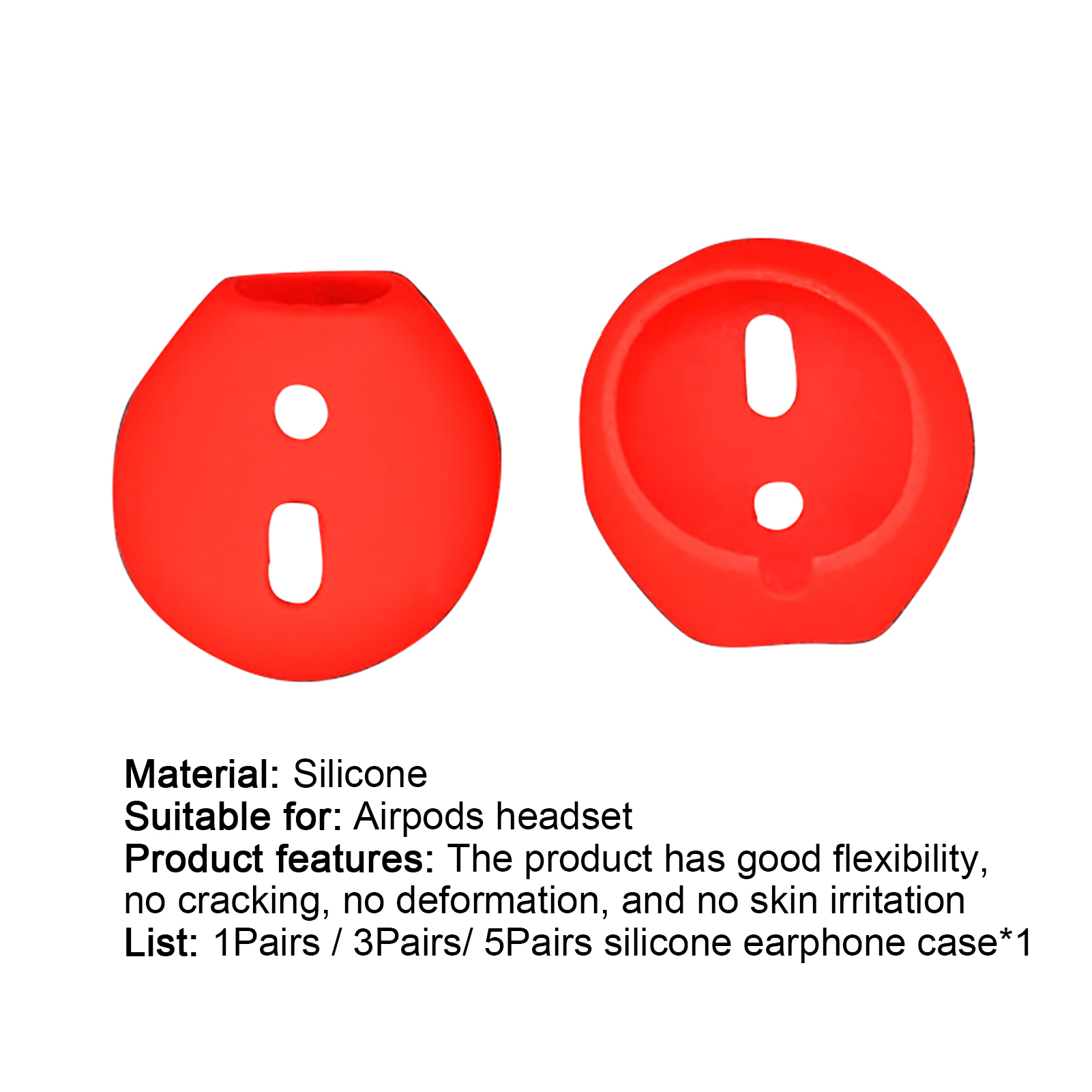 1-3-5-Pairs-Replacement-Silicone-Eartips-Anti-Lost-Earbud-Cover-For-Apple-Airpod thumbnail 15